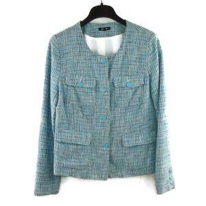 Premise Blue Blazer Jacket 14 Tweed Style Pattern